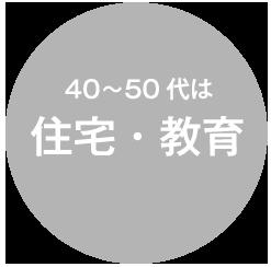 40~50代は住宅・教育
